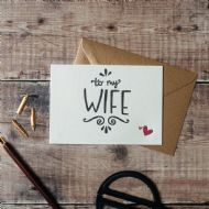 Hunter Paper Co. To My Wife Card